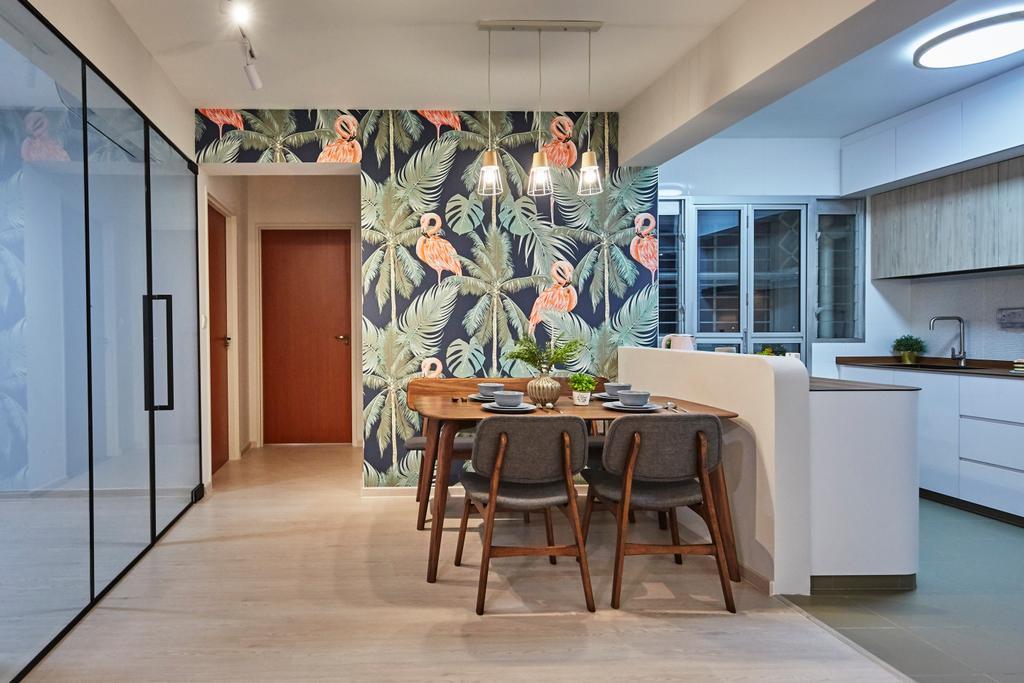 Eclectic, HDB, Dining Room, Sun Natura, Interior Designer, The Interior Lab