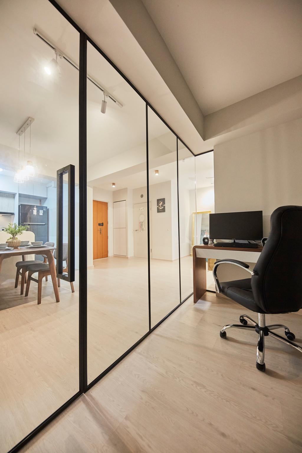 Eclectic, HDB, Study, Sun Natura, Interior Designer, The Interior Lab