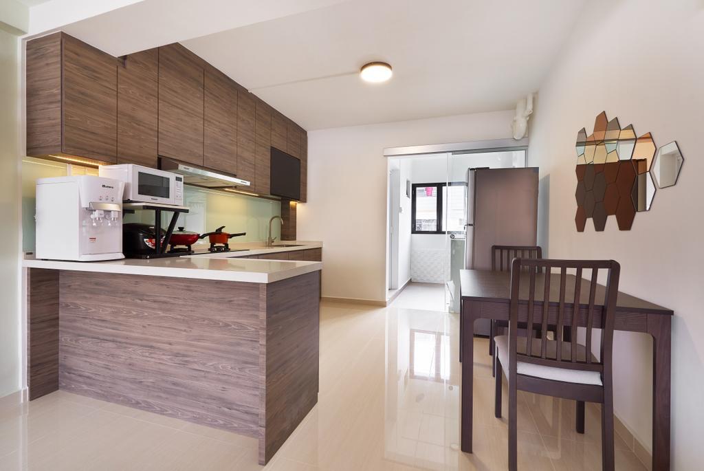 Contemporary, HDB, Kitchen, Tampines Street 34, Interior Designer, AgcDesign