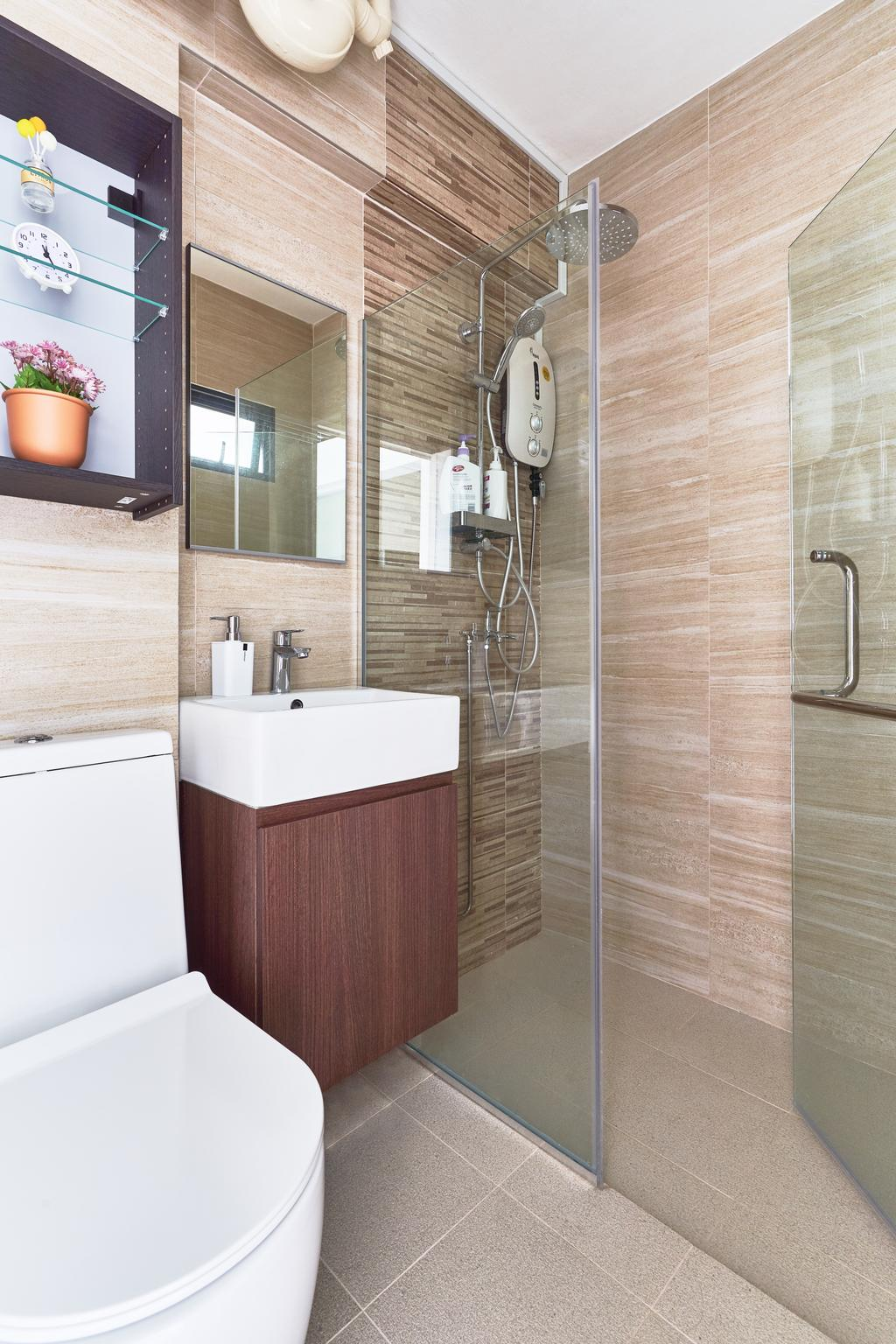 Contemporary, HDB, Bathroom, Tampines Street 34, Interior Designer, AgcDesign