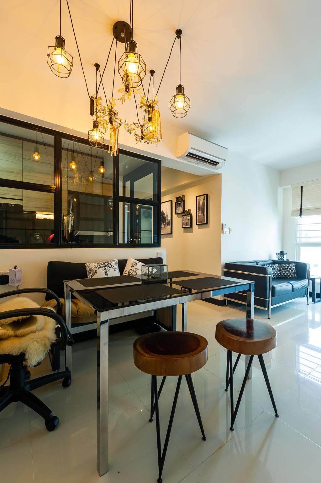 Contemporary, HDB, Dining Room, Edgefield Plains, Interior Designer, TDI Interior