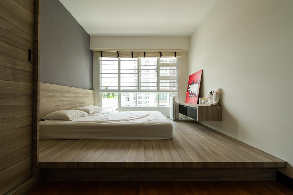 Contemporary, HDB, Bedroom, Edgefield Plains, Interior Designer, TDI Interior
