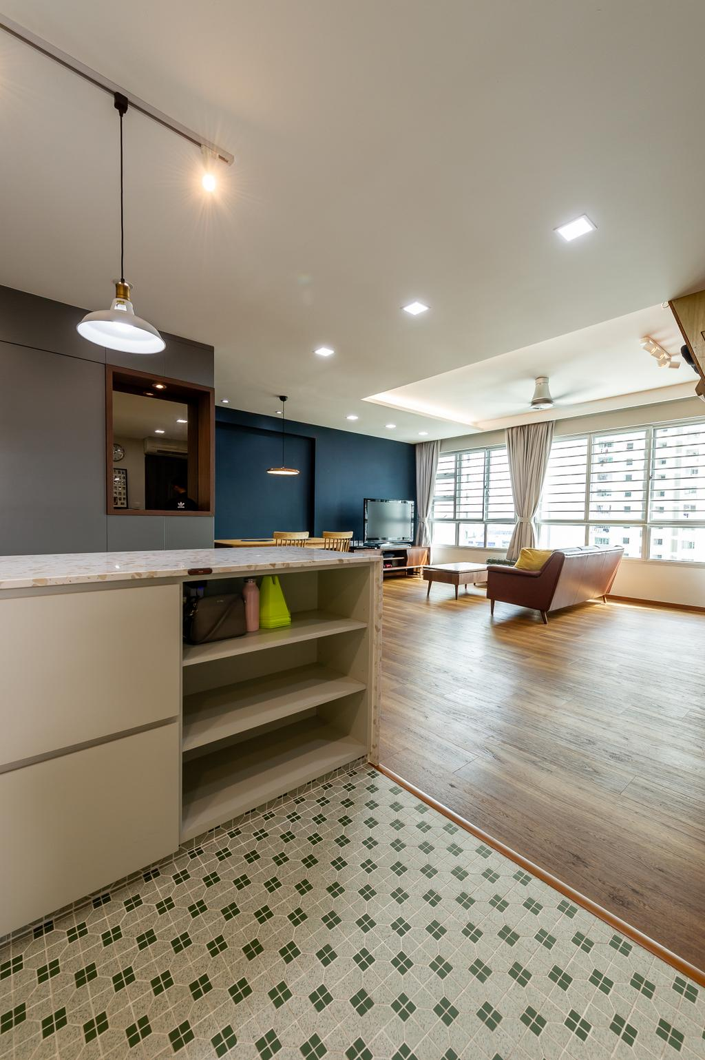 Transitional, HDB, Kitchen, Ang Mo Kio Street 44, Interior Designer, TDI Interior