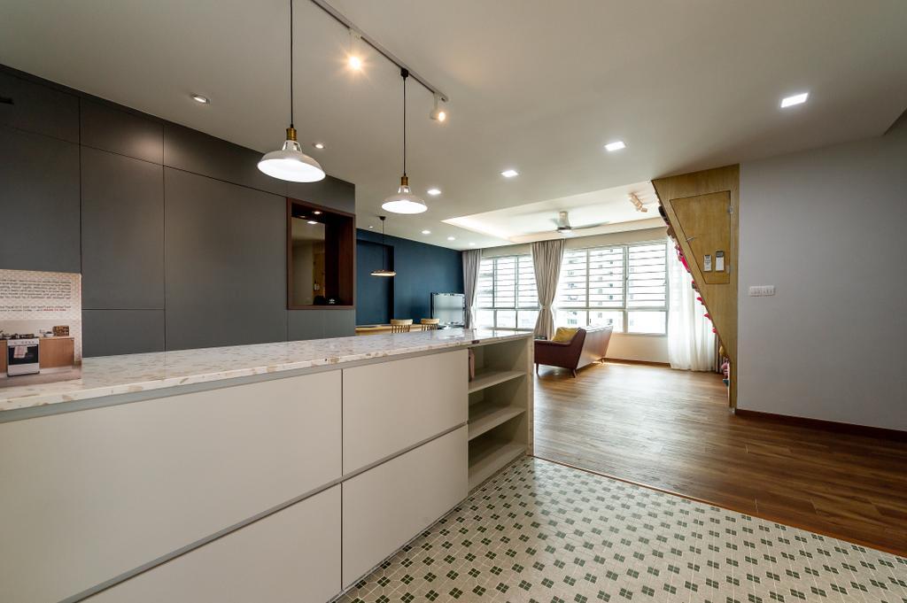 Transitional, HDB, Kitchen, Ang Mo Kio Street 44, Interior Designer, TDI Interior