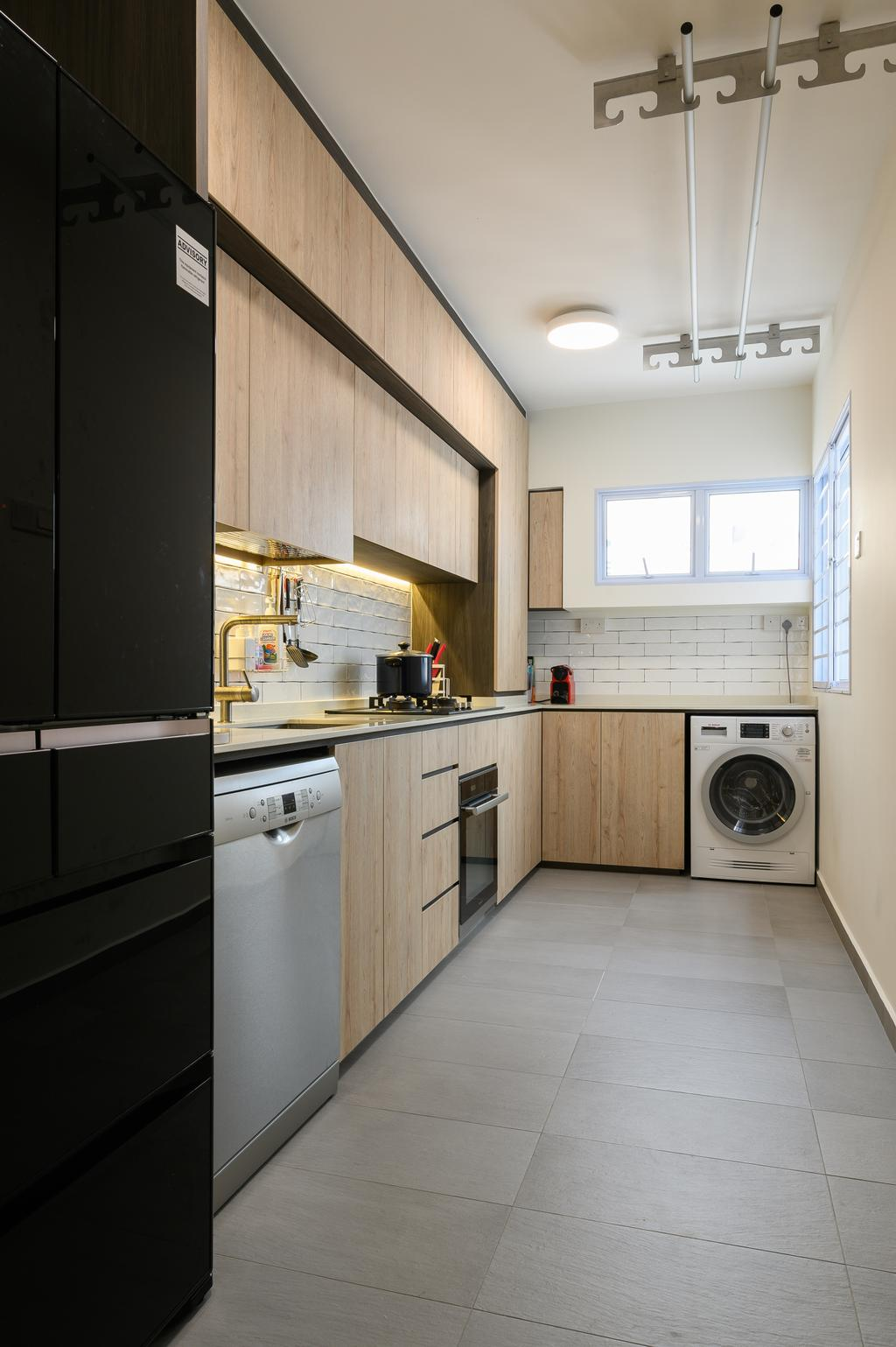 Modern, HDB, Kitchen, Chua Chu Kang Crescent, Interior Designer, TDI Interior