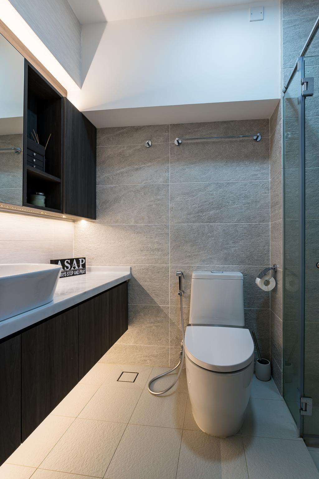 Modern, HDB, Bathroom, Chua Chu Kang Crescent, Interior Designer, TDI Interior