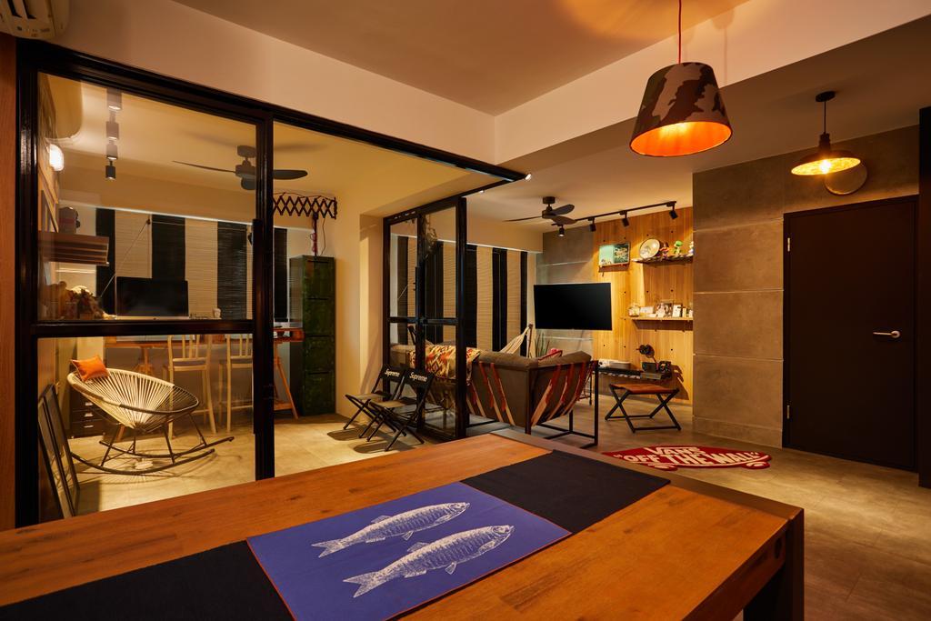 Contemporary, HDB, Living Room, Woodlands Drive, Interior Designer, The Local INN.terior 新家室