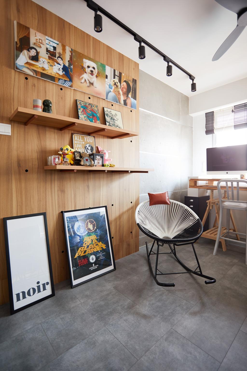 Contemporary, HDB, Study, Woodlands Drive, Interior Designer, The Local INN.terior 新家室