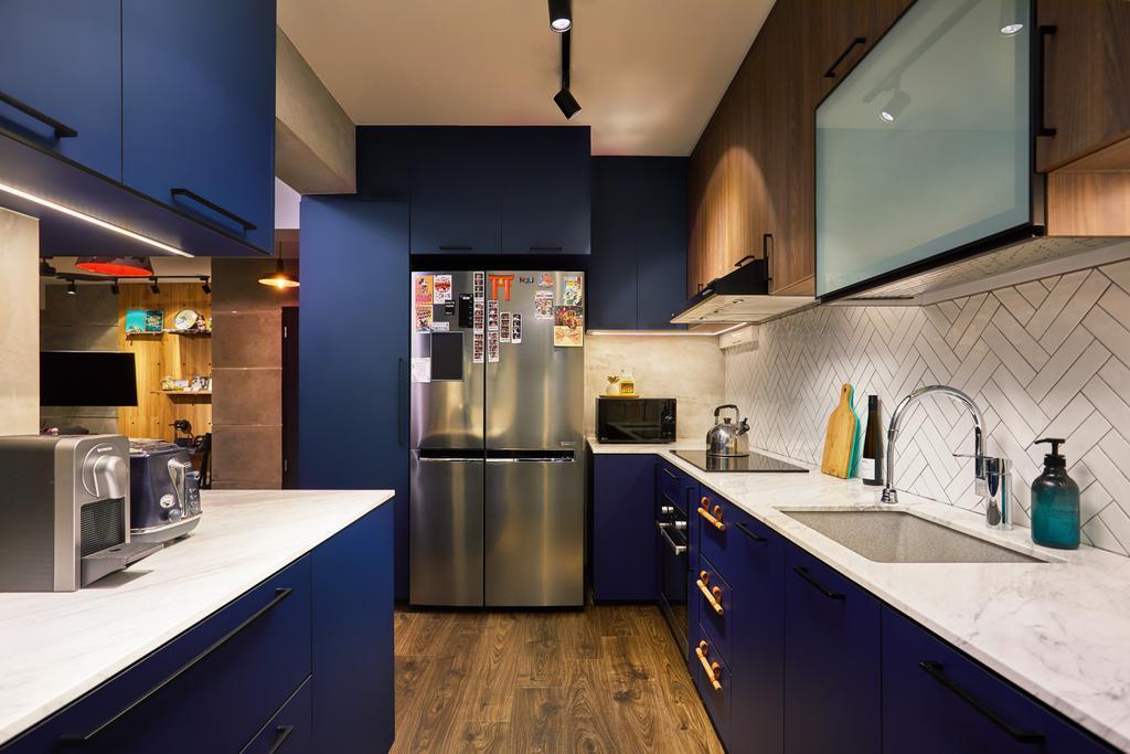 Contemporary, HDB, Kitchen, Woodlands Drive, Interior Designer, The Local INN.terior 新家室