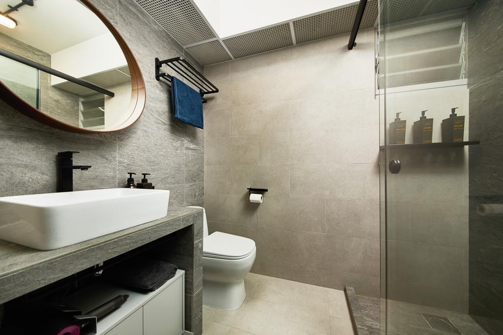 Contemporary, HDB, Bathroom, Woodlands Drive, Interior Designer, The Local INN.terior 新家室