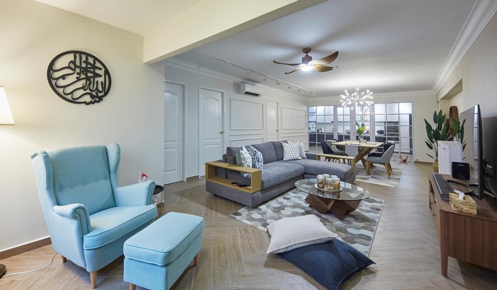 Contemporary, HDB, Living Room, Choa Chu Kang North 5, Interior Designer, i-Chapter, Scandinavian