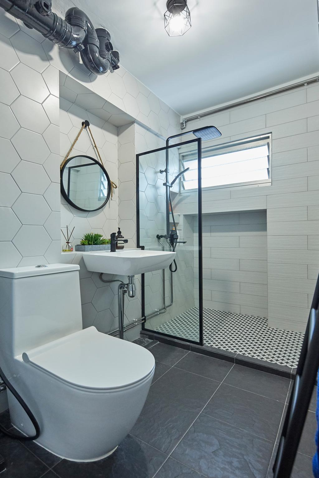 Contemporary, HDB, Bathroom, Choa Chu Kang North 5, Interior Designer, i-Chapter, Scandinavian