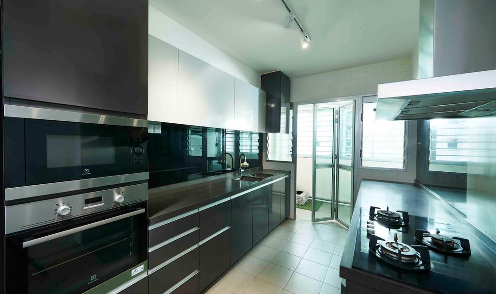 Contemporary, HDB, Kitchen, Punggol, Interior Designer, Artitecture
