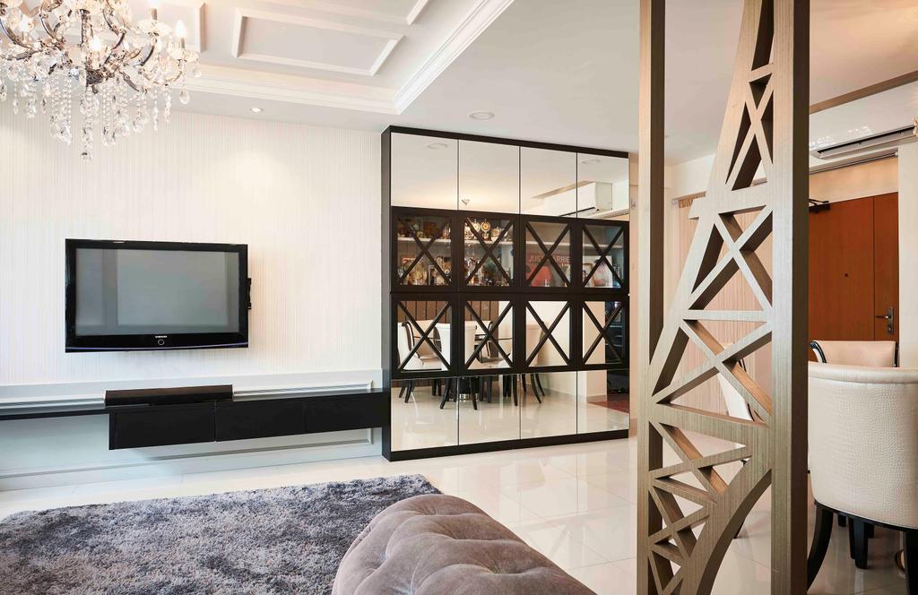 Contemporary, HDB, Living Room, Punggol, Interior Designer, Artitecture