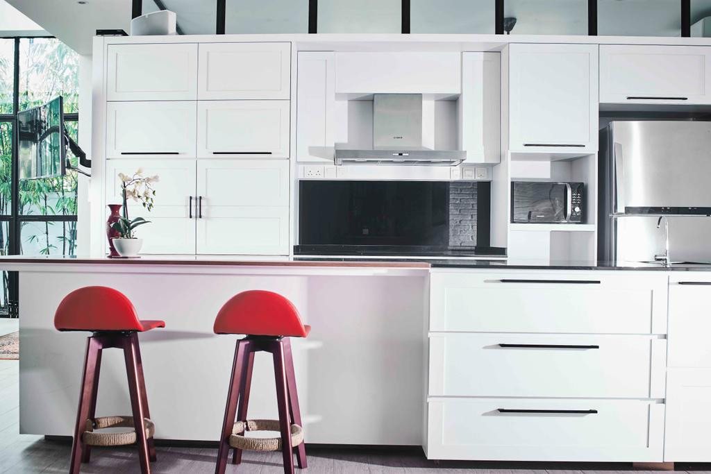 Contemporary, Landed, Kitchen, Namly Garden, Interior Designer, Artitecture