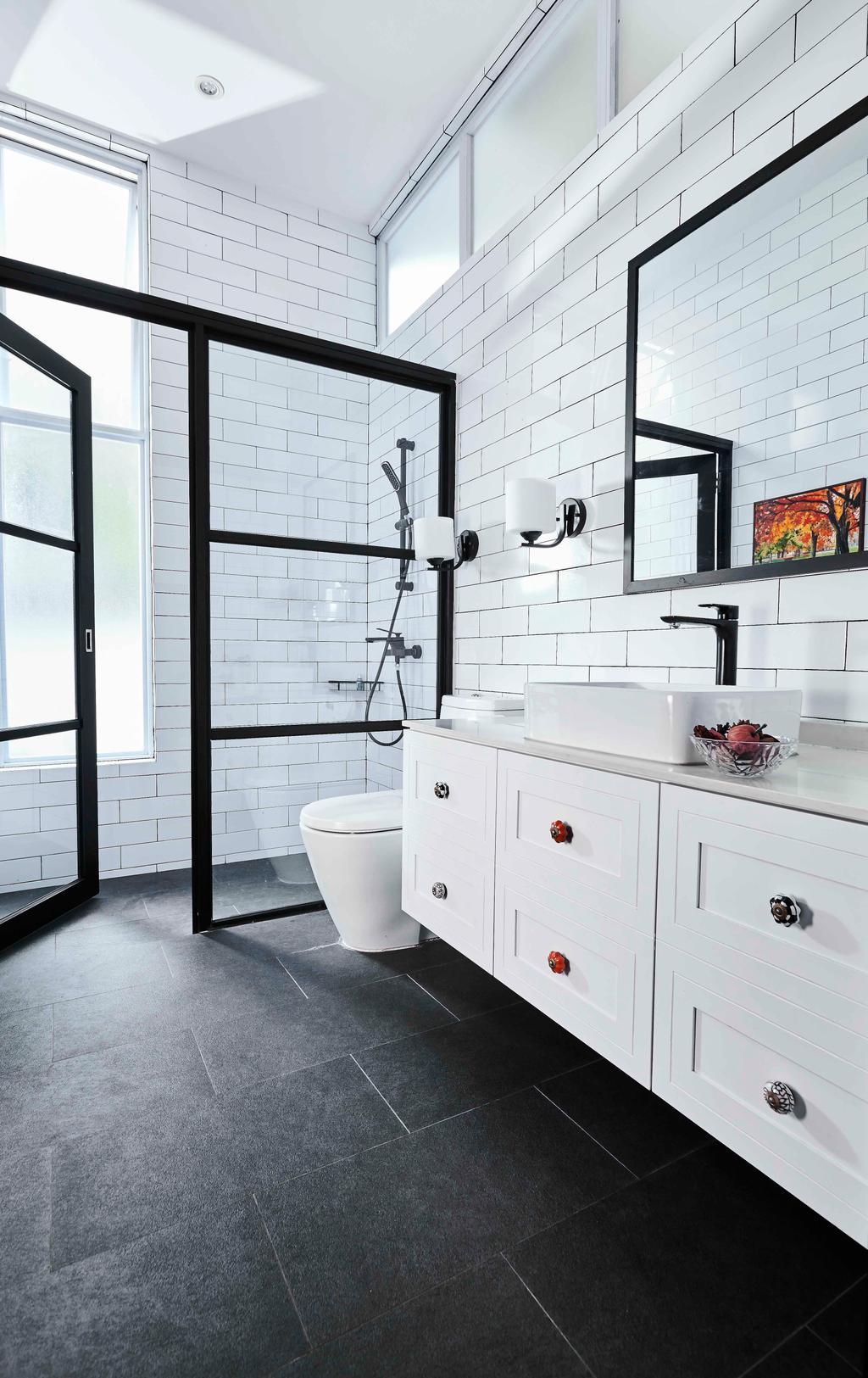 Contemporary, Landed, Bathroom, Namly Garden, Interior Designer, Artitecture