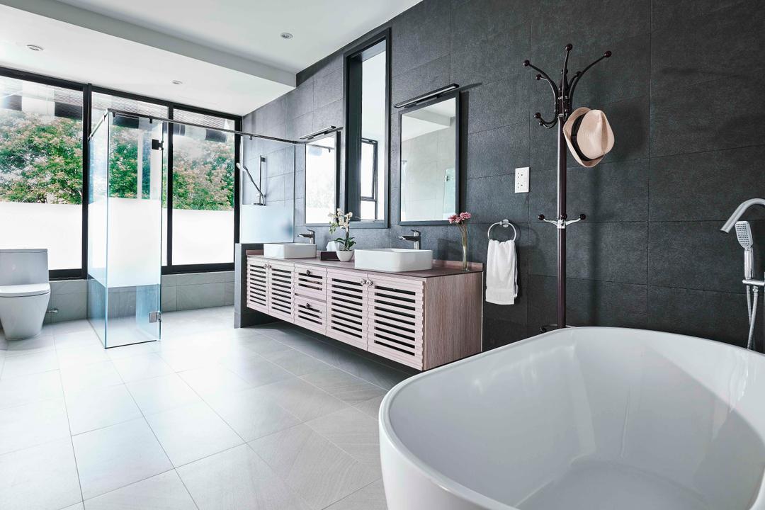 Namly Garden, Artitecture, Contemporary, Bathroom, Landed, Bath Tub, Bathtub, Freestanding Tub