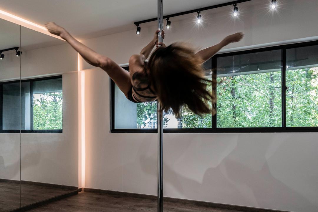 Hougang, Fifth Avenue Interior, Contemporary, Modern, HDB, Dance Studio, Studio, Pole Dance