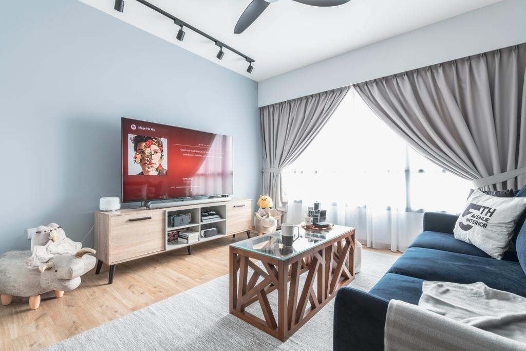 HDB, Living Room, Yishun, Interior Designer, Fifth Avenue Interior