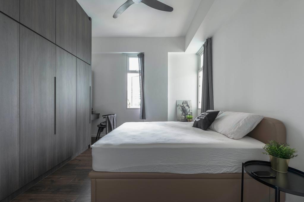 Minimalistic, Condo, Bedroom, The Astons, Interior Designer, Fifth Avenue Interior, Contemporary