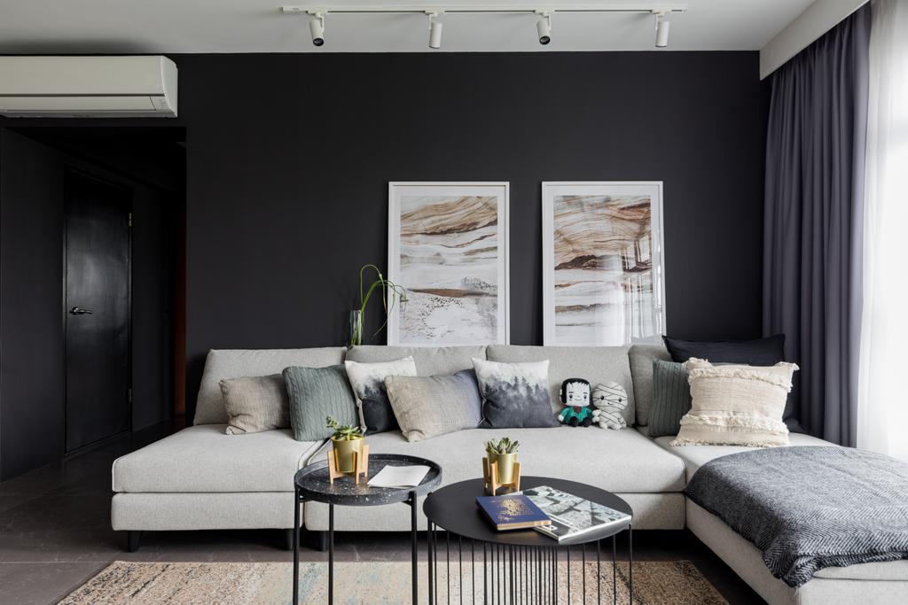 Contemporary, HDB, Living Room, City Vue @ Henderson, Interior Designer, ELPIS Interior Design