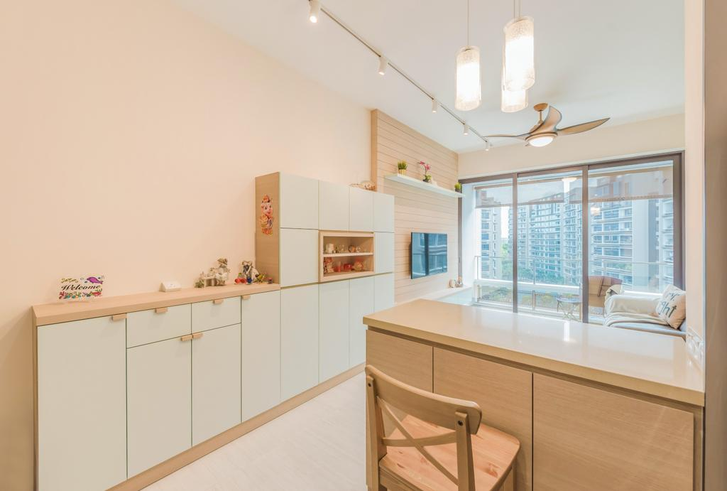 Contemporary, Condo, Living Room, d'Nest, Interior Designer, Dap Atelier