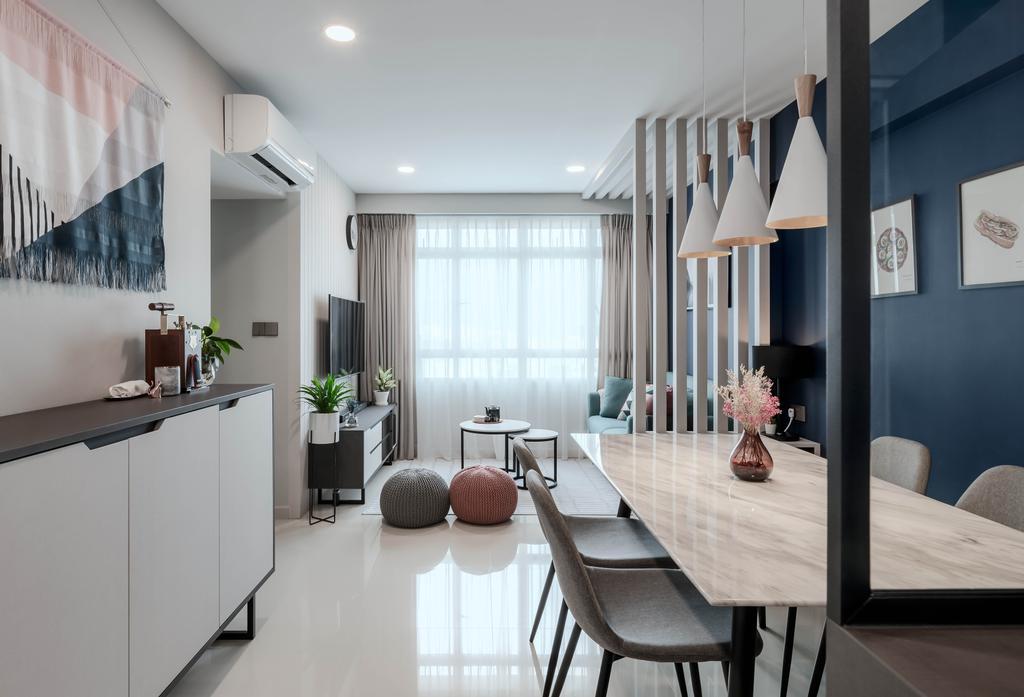 Contemporary, HDB, Living Room, Bendemeer Road, Interior Designer, Stylemyspace
