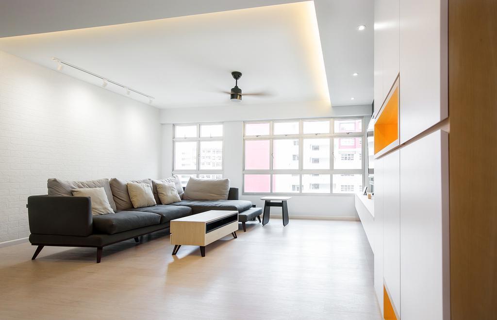Contemporary, HDB, Living Room, Bukit Batok West, Interior Designer, Fifth Avenue Interior
