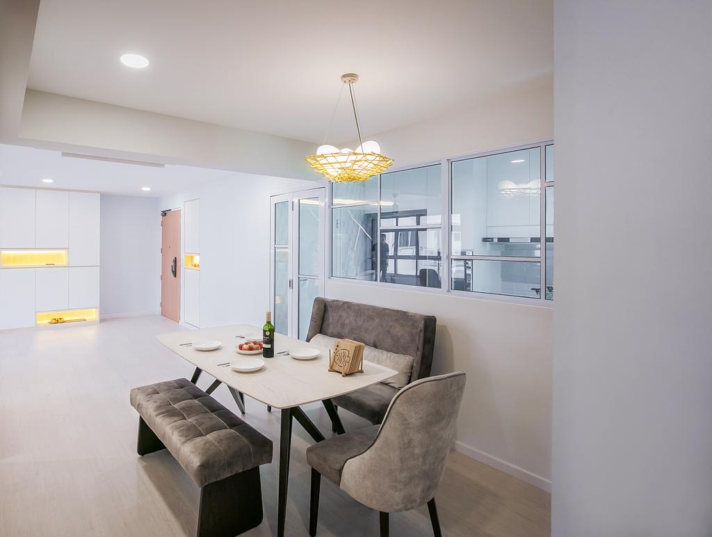 Contemporary, HDB, Dining Room, Bukit Batok West, Interior Designer, Fifth Avenue Interior
