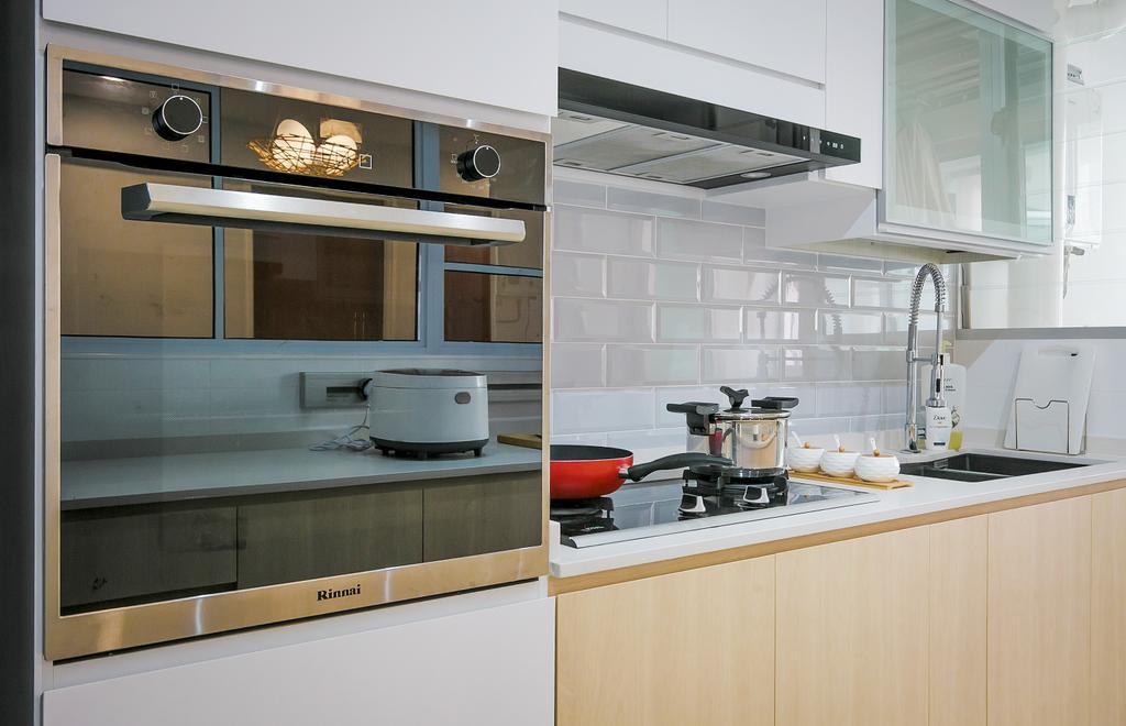 Contemporary, HDB, Kitchen, Bukit Batok West, Interior Designer, Fifth Avenue Interior