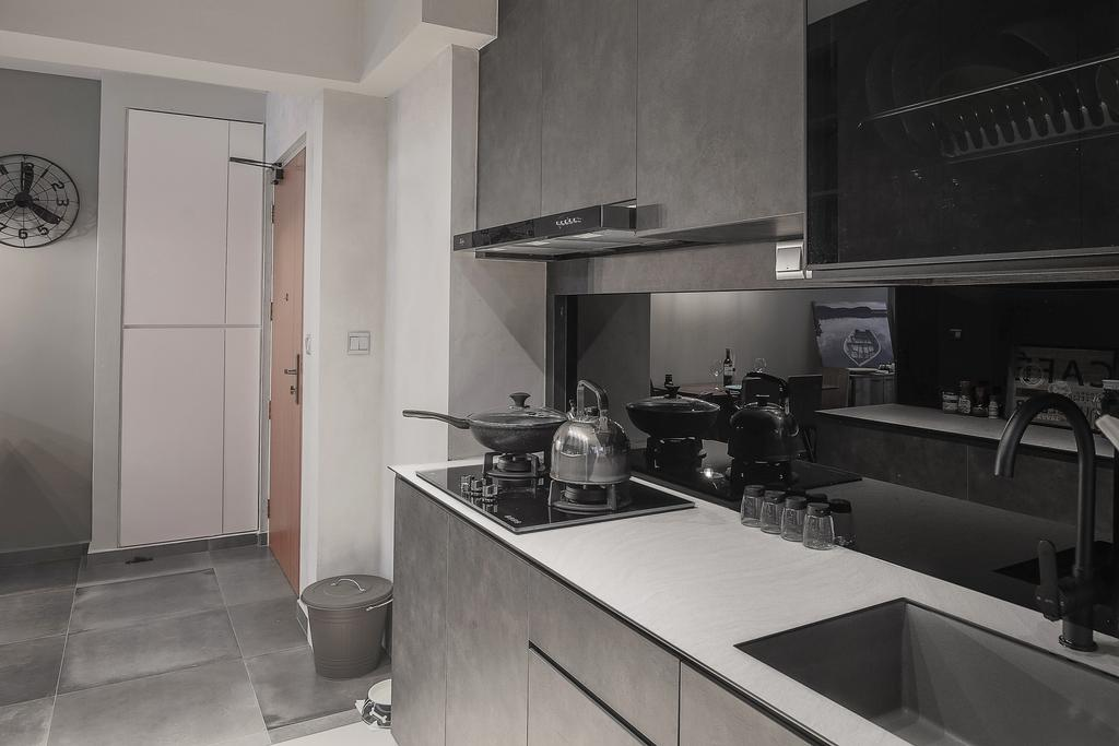 Contemporary, HDB, Kitchen, Sumang Lane, Interior Designer, Fifth Avenue Interior