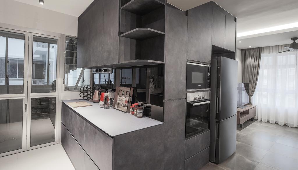 Contemporary, HDB, Kitchen, Sumang Lane, Interior Designer, Fifth Avenue Interior