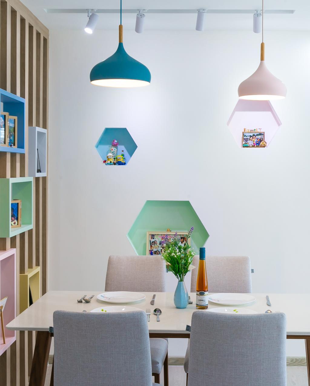 Scandinavian, HDB, Dining Room, Punggol Central, Interior Designer, Fifth Avenue Interior