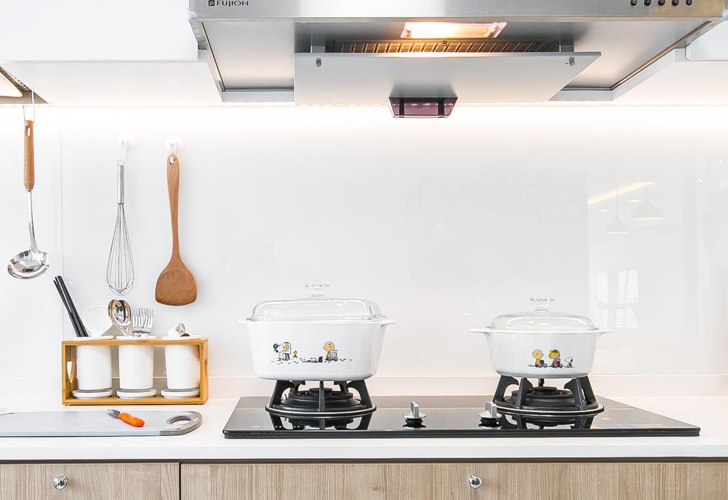 Scandinavian, HDB, Kitchen, Punggol Central, Interior Designer, Fifth Avenue Interior