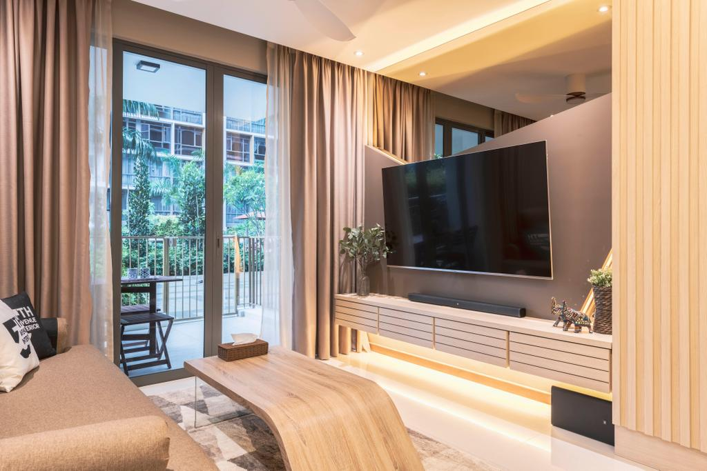 Contemporary, Condo, Living Room, Choa Chu Kang, Interior Designer, Fifth Avenue Interior