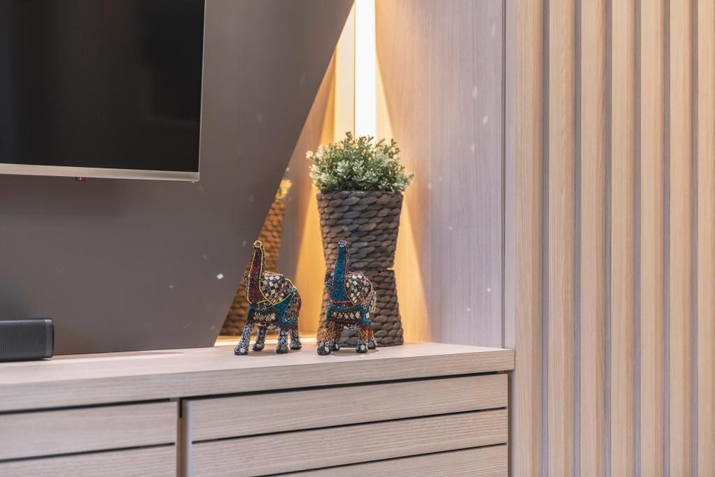 Contemporary, Condo, Living Room, Choa Chu Kang, Interior Designer, Fifth Avenue Interior