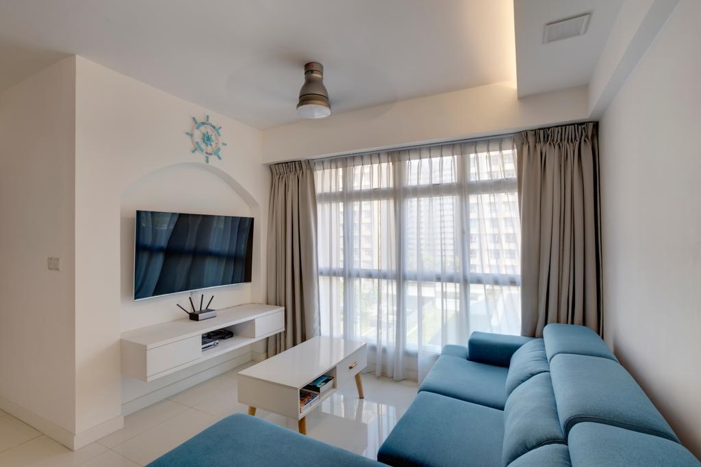 Modern, HDB, Living Room, Sumang Lane, Interior Designer, i. Haven Design, Contemporary