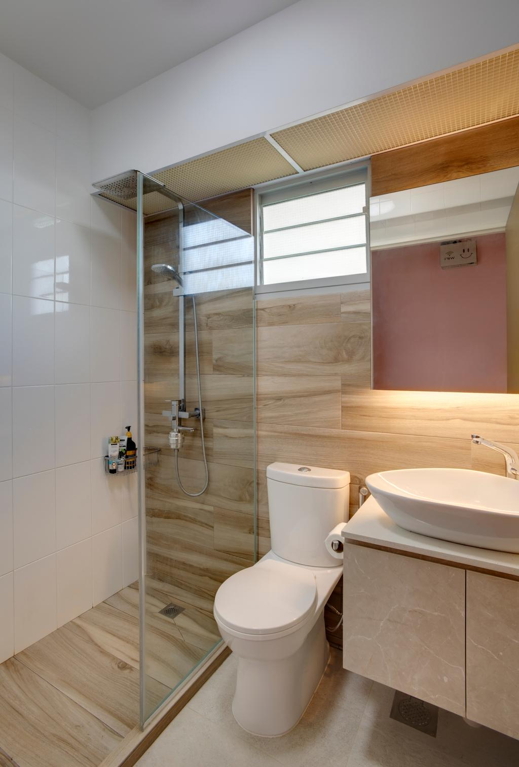Modern, HDB, Bathroom, Sumang Lane, Interior Designer, i. Haven Design, Contemporary