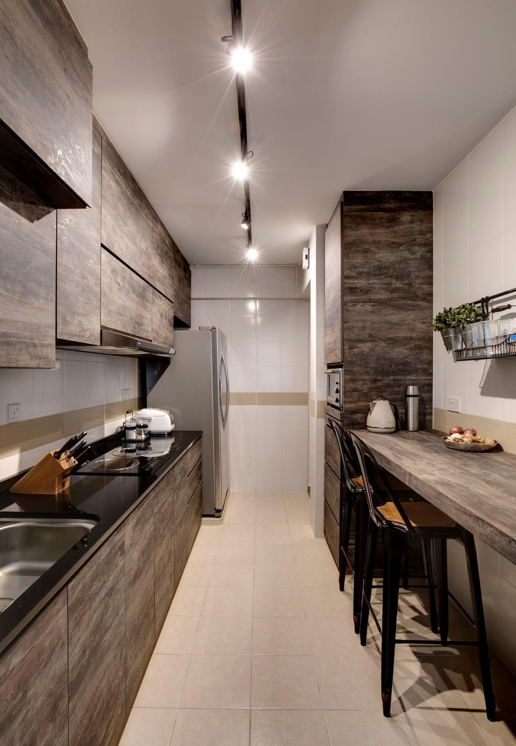 Contemporary, HDB, Kitchen, Yishun Avenue 1, Interior Designer, i. Haven Design