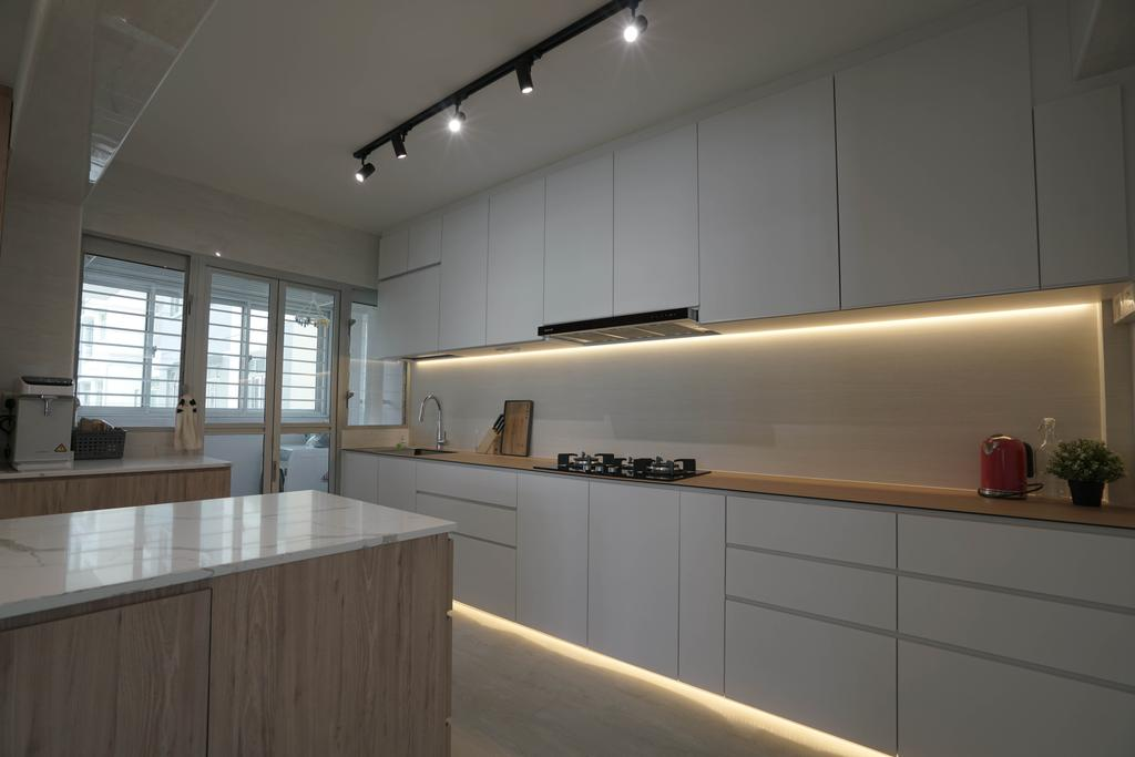 Scandinavian, HDB, Kitchen, West Rock @ Bukit Batok, Interior Designer, ELPIS Interior Design