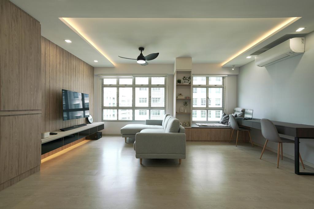 Scandinavian, HDB, Living Room, West Rock @ Bukit Batok, Interior Designer, ELPIS Interior Design