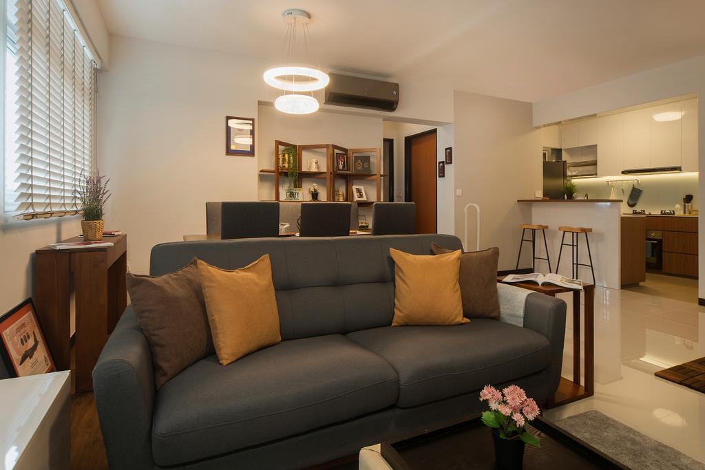 Modern, HDB, Living Room, St. George's Lane, Interior Designer, Great Oasis Interior Design