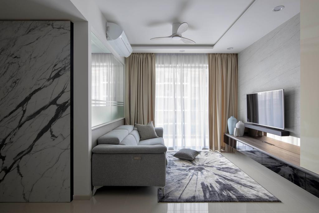 Contemporary, Condo, Living Room, The Visionaire, Interior Designer, Briey Interior