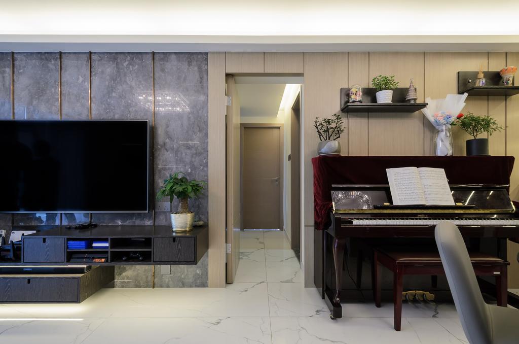 摩登, 私家樓, 城市花園, 室內設計師, Epic, 簡約