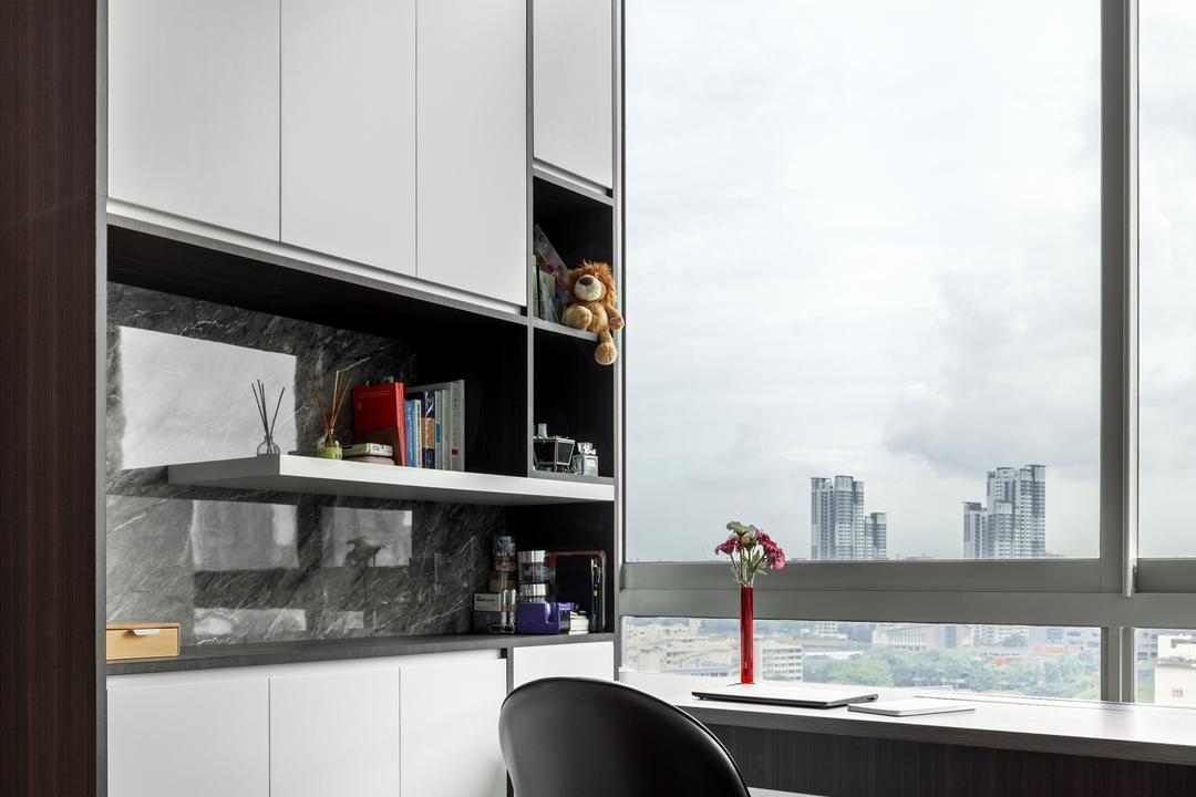 Lush on Holland Hill, Anhans Interior Design, Modern, Contemporary, Bedroom, Condo, Bay Window