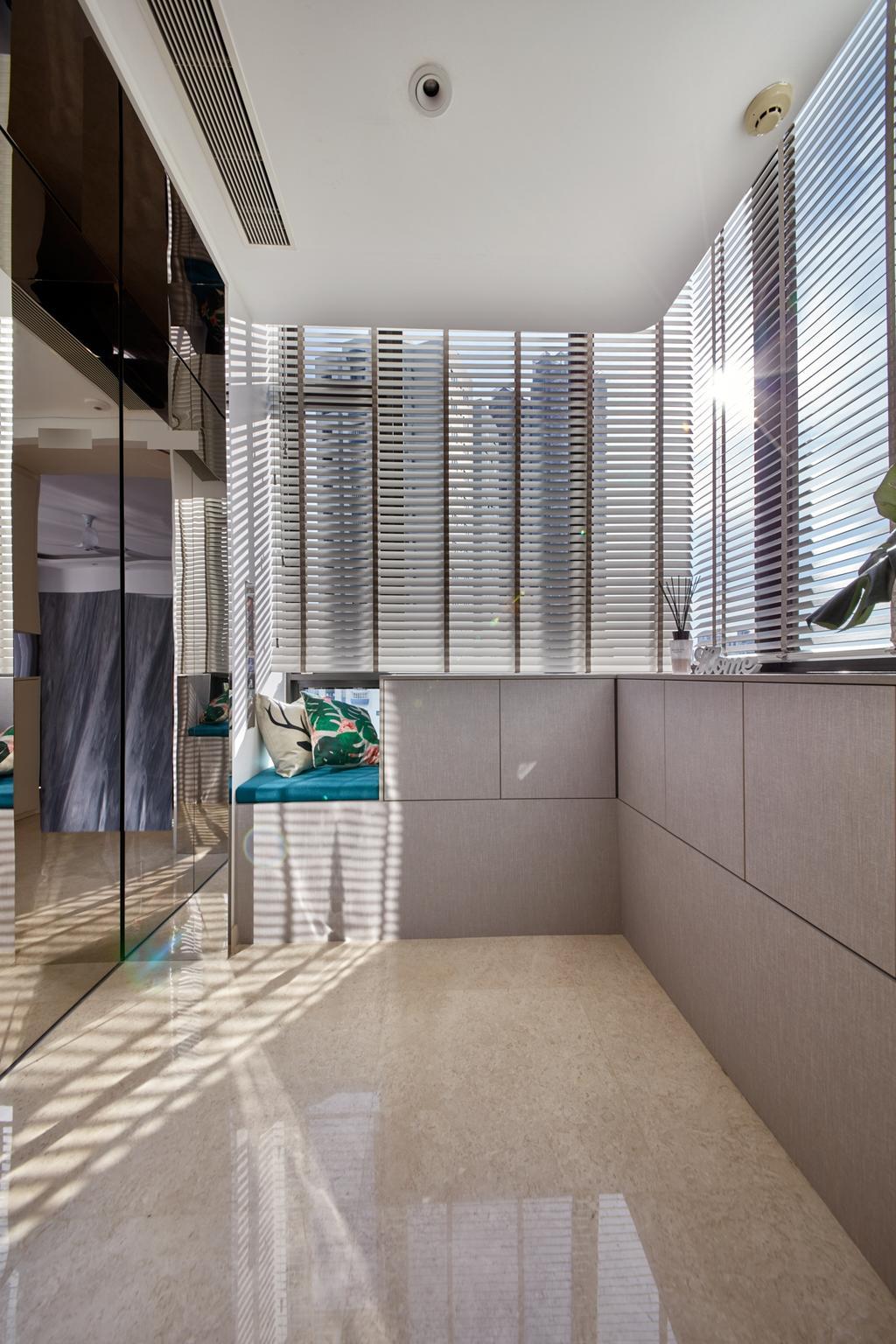 Modern, Condo, Living Room, Trilight, Interior Designer, Free Space Intent, Private Lift, Lift