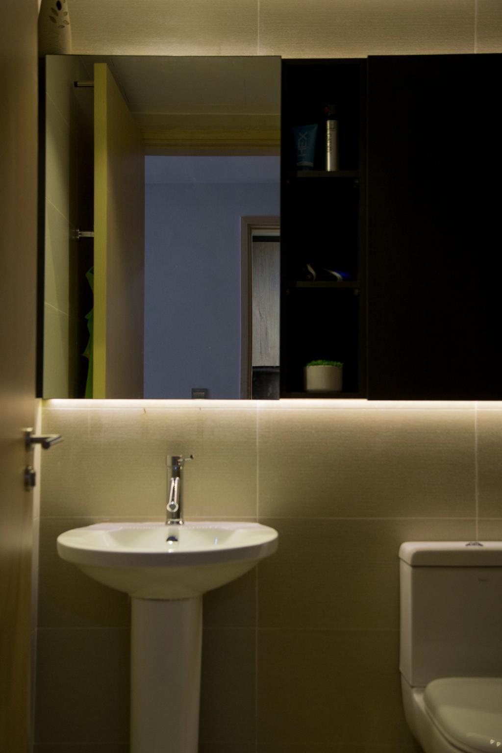 Contemporary, Condo, Bathroom, Forestville, Interior Designer, Ataz Haus Interior Design