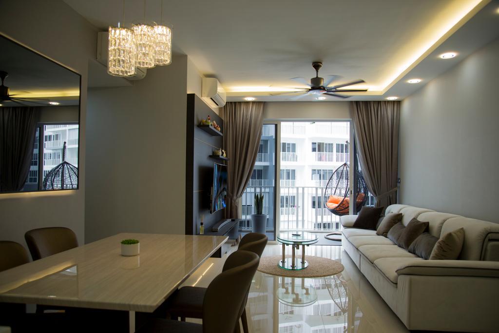 Contemporary, Condo, Dining Room, Forestville, Interior Designer, Ataz Haus Interior Design