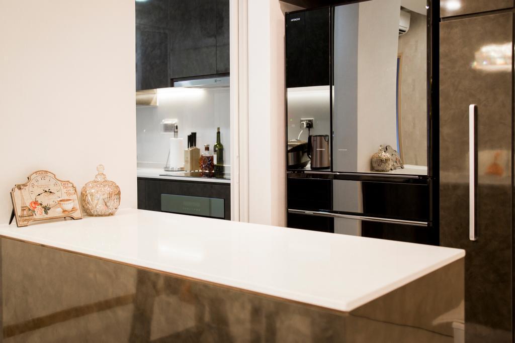 Contemporary, Condo, Kitchen, Forestville, Interior Designer, Ataz Haus Interior Design