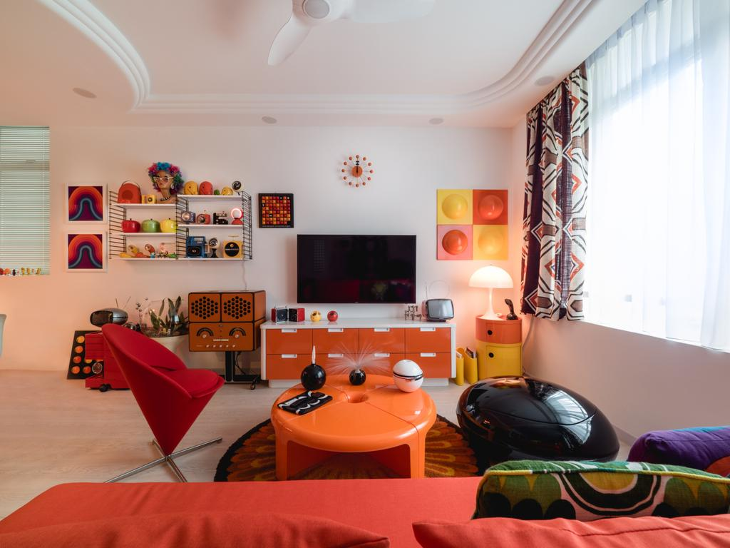 Retro, HDB, Living Room, Compass Heights, Interior Designer, The Safe Haven Interiors